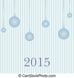 Greeting card new year 2015. Vector.