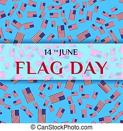 Greeting card of Flag Day.