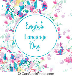 Greeting card of the English Language Day