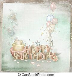 Greeting card on his birthday