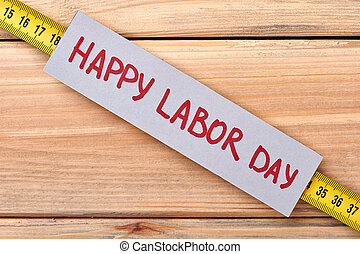 Greeting card on Labor Day.