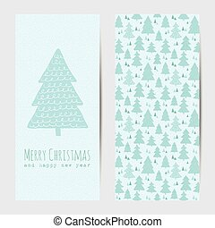 Greeting card or banner for Christmas and New Year