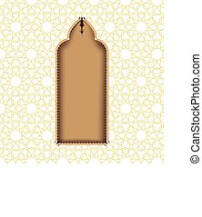 Greeting card or cover for ramadan with an eastern arch...
