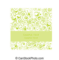 Greeting Card or Invitation for Parties, Weddings, Showers