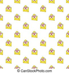Greeting card pattern, cartoon style