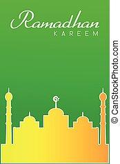 Greeting Card - Ramadhan - vector Greeting Card - Ramadhan