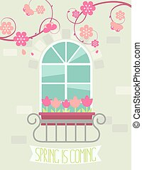 Greeting card Spring