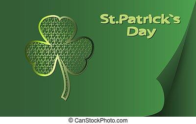 Greeting card St. Patrick.