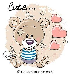 Teddy Bear with hearts