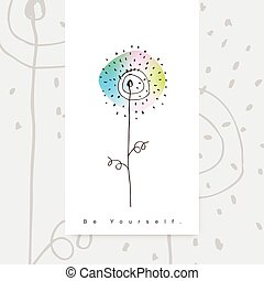 Greeting card - template .