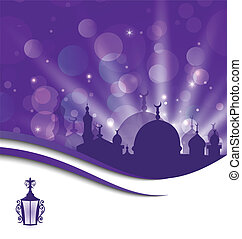 Greeting card template for Ramadan Kareem - Illustration...