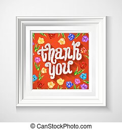 Greeting Card template in vintage red and white. Great for Thanksgiving and Thank You cards.