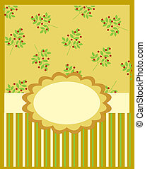 Greeting card template, vector