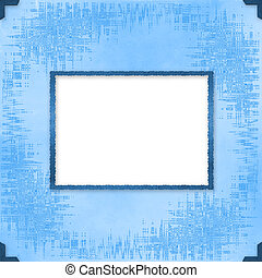 Greeting Card to holiday with frames on the blue background