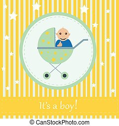 Greeting card to newborn baby. It s a boy