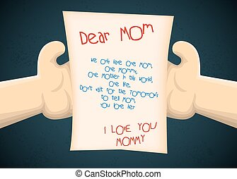 Greeting card to son from mother fo