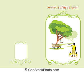 Greeting card to the Father%u2019s Day