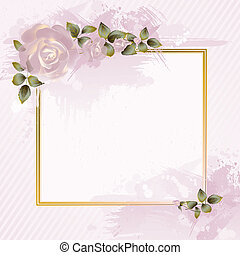 greeting-card  - tender greeting-card with pink roses
