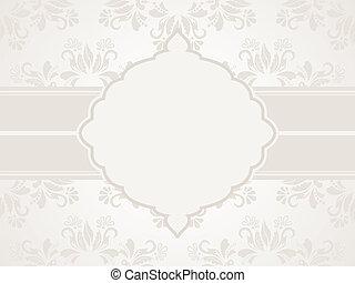 Greeting card - Vector vintage silver wedding invitation