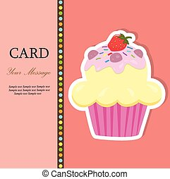 Greeting card with a cupcake