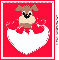 greeting card with a cute puppy