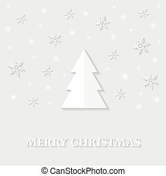 Greeting card with a Merry Christmas