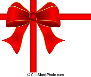 greeting card with a red bow