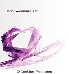 Greeting card with abstract diamond