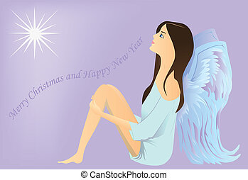 Angel watches the star