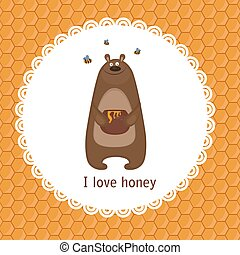 Greeting card with bear.