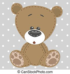 Greeting card with bear