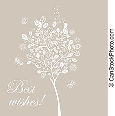Greeting card with beautiful lacy t