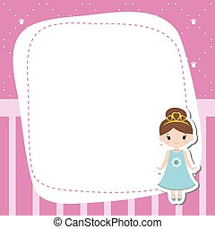 Greeting card with beautiful princesses.