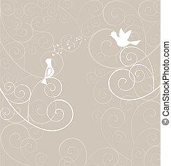 Greeting card with bird