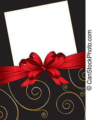 greeting card with bow and copy sp
