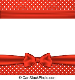Greeting card with bow.