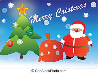 "greeting card ""With Christmas"""