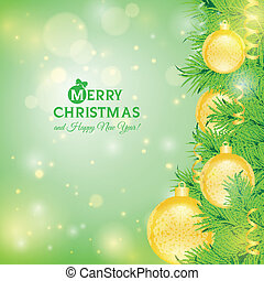 Greeting card with Christmas tree