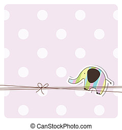 Greeting card with copy space  - Cute card with copy space