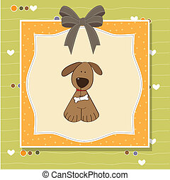 greeting card with dog