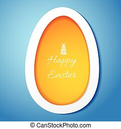 Greeting card with Easter egg symbol