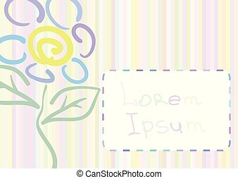 Greeting card with flower.
