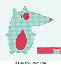 Greeting card with Fox - for scrapbook, invitation, celebration with place for your text