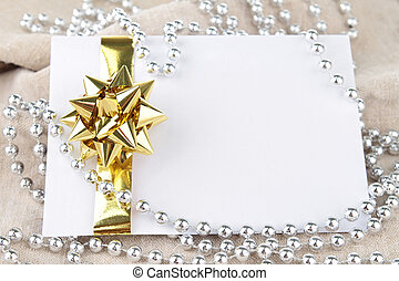 greeting card with gift bow