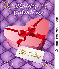 Greeting card with gift box