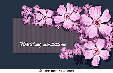 Greeting card with labrador tea, watercolor, can be used as invitation card for wedding, birthday and other holiday and summer background. Vector illustration.