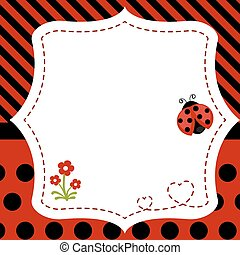 Greeting card with ladybug.