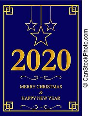 Greeting card With new year 2020