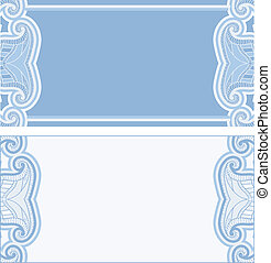 Greeting card with oriental pattern