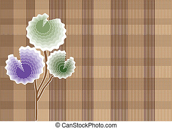 Greeting card with pastel flowers